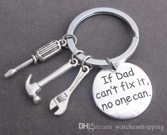 """""""Se o pai não pode consertá-lo ninguém pode"""" ferramentas manuais chaveiro paizinho anéis chave presente para o pai dia dos pais, pai moda acessórios chaveiro"""