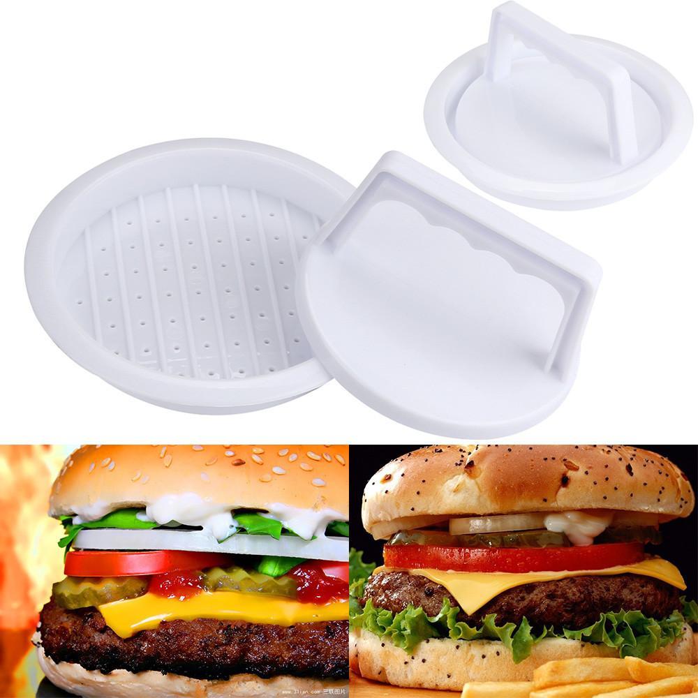 1Set Round Shape Hamburger Press Food-Grade Plastic Hamburger Meat Beef Grill Burger Press Patty Maker Mold Mould Kitchen Tool