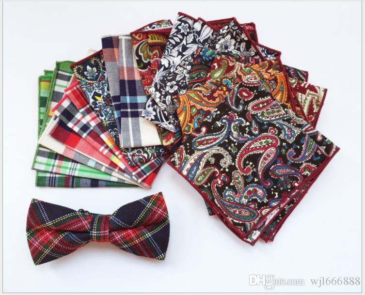 Men's handkerchiefs, scarves, cotton fabrics, Scottish checked suits, pocket towels, dress towels
