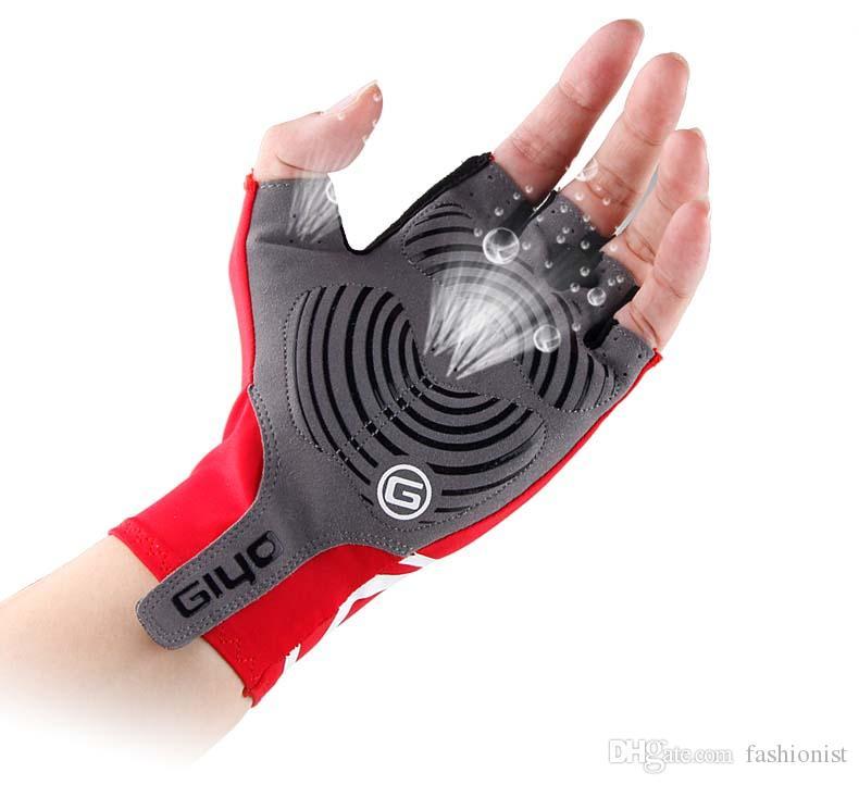 2019 Bicycle Short Gloves GIYO Anti Slip Gel Pad Half Finger Breathable Outdoor Running Free Shipping