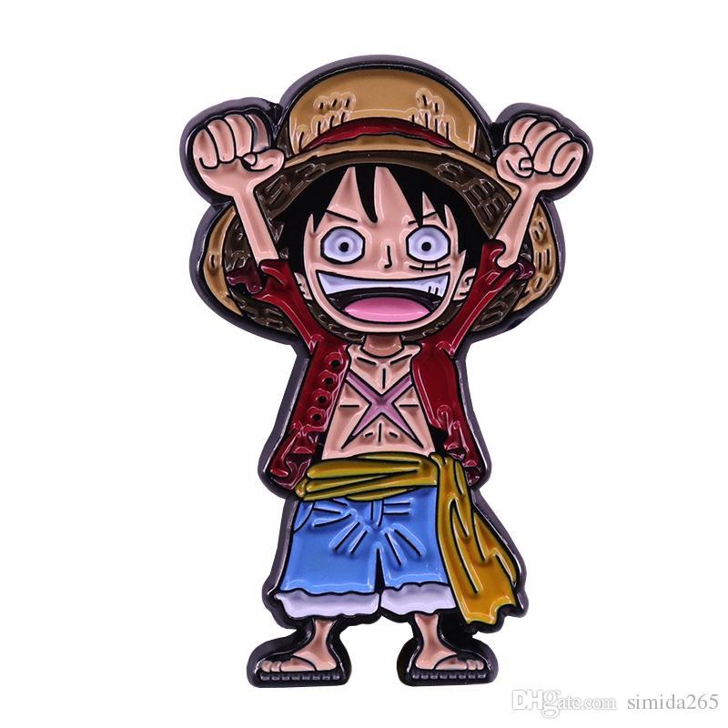 Maymun D Luffy yaka pin tek parça rozeti anime manga hayranları klasik ek
