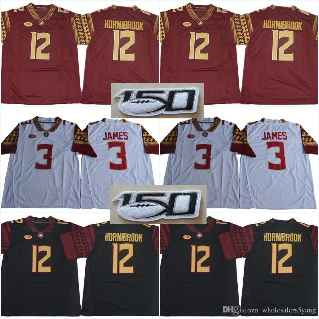 # 12 Alex Hornibrook FSU # 12 Deondre Francois Florida State Seminoles Jerseys # 2 Deion Sanders 4 Dalvin Cuire 5 Winston College Maillots Jameis