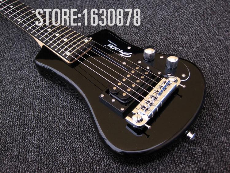 Fácil de tomar Negro / Rojo / guitarra azul metálico Hofner Chapo viaje guitarra eléctrica con Protable Mini Funda Bolsa de algodón, Wrap Arround Colilla