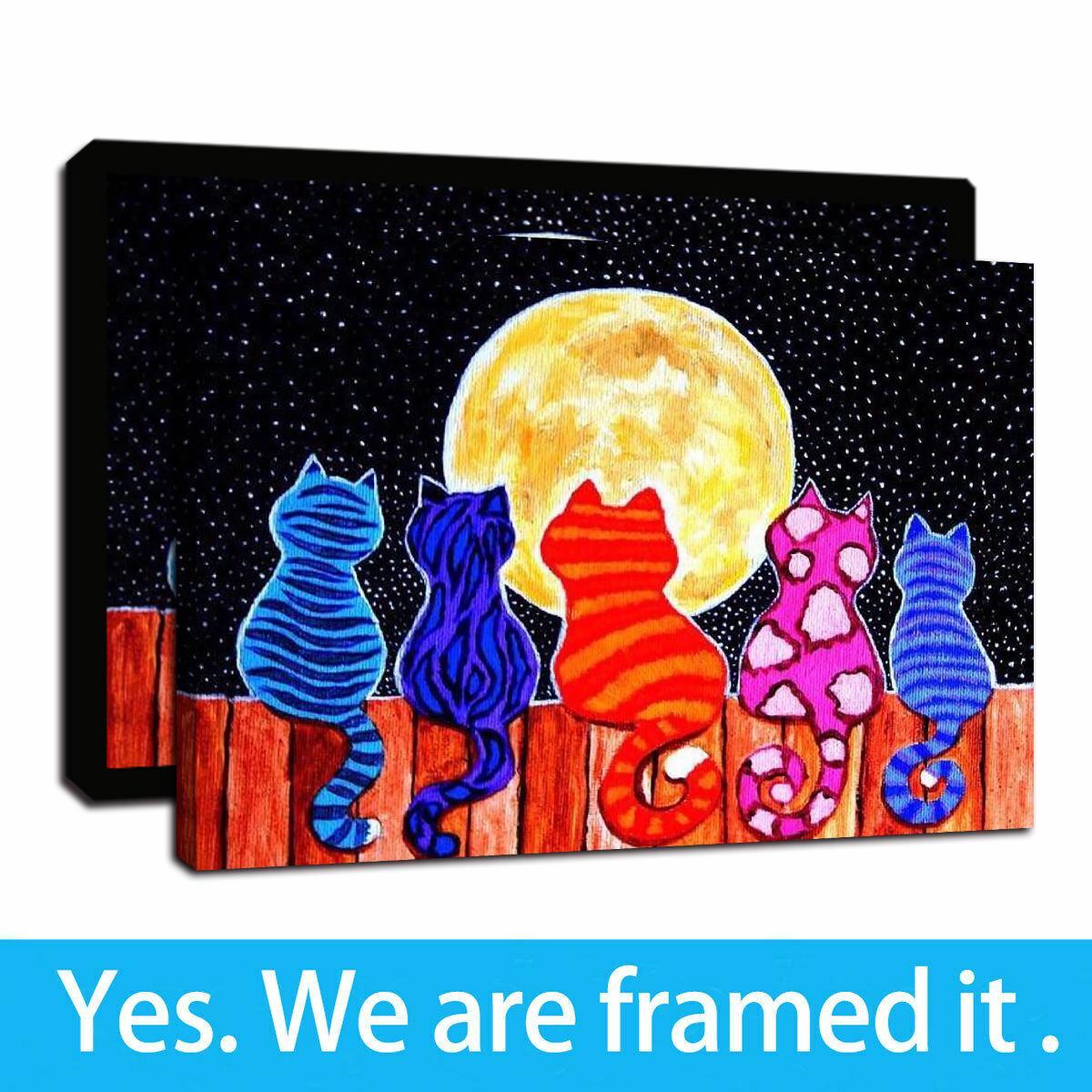 "12/""x18/""Batman and the moon HD Canvas prints Painting Home decor Room Wall art"