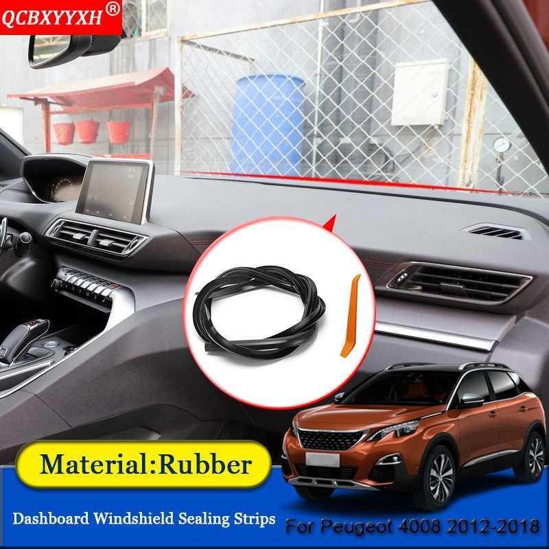 QCBXYYXH Car-styling de goma contra el Ruido insonorizadas a prueba de polvo del tablero de instrumentos del parabrisas de sellado tiras para 4008 2012-2018
