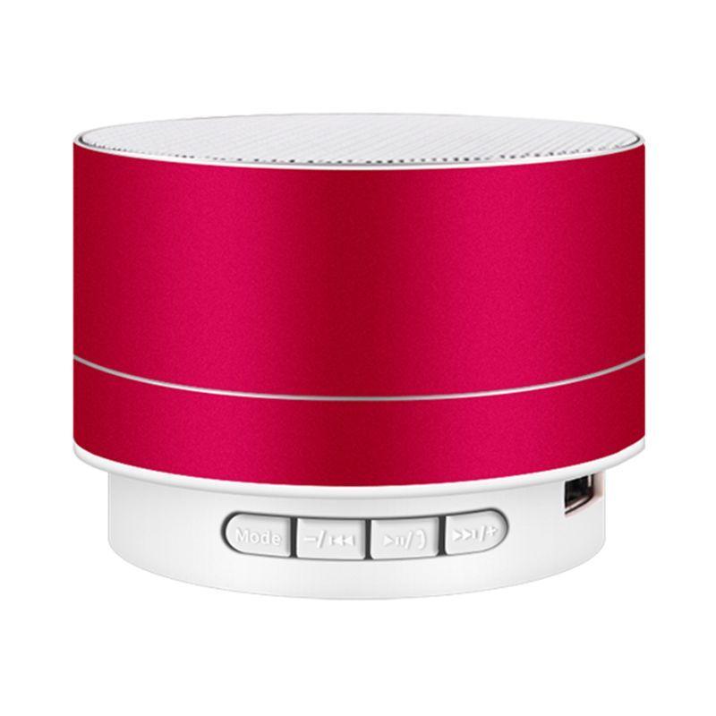 LED Mini Bluetooth Speaker A10 TF USB FM Wireless Music Box Caja de sonido Subwoofer de altavoces para PC del teléfono