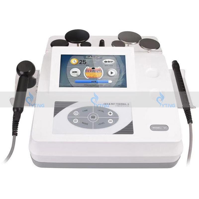 Tecar Diathermy Monopolare Radiofrequenz HF-Gesicht Anziehen Anti-Falten-Körper Abnehmen Therapie-CET-RET-HF-Physiotherapie-Maschine