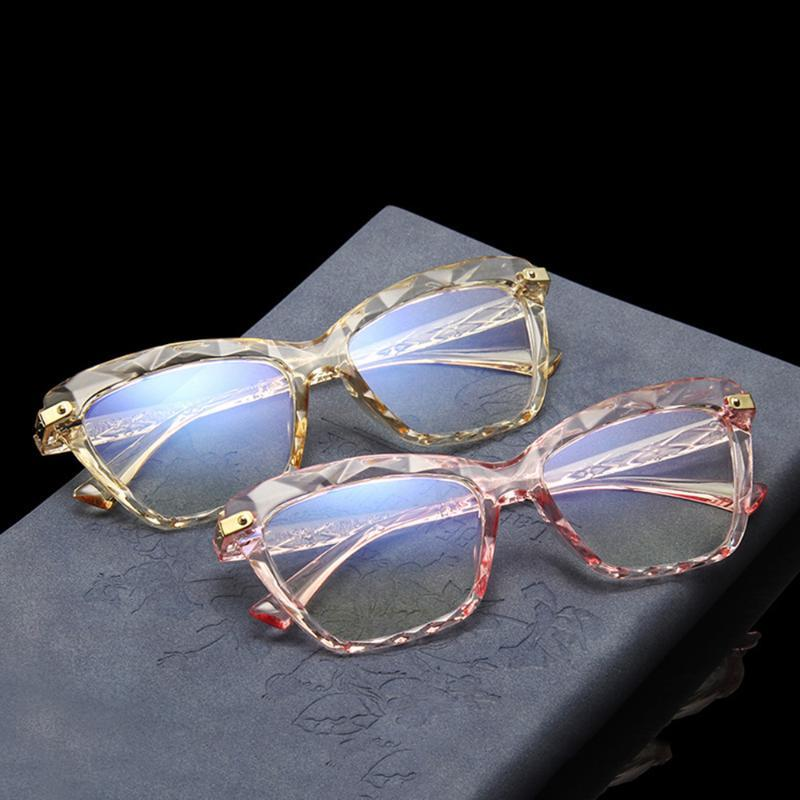 Femmes Cat Eye Anti Bleu Lunettes Chat Noir Cadre des yeux bleu clair blocage informaticiennes lunettes