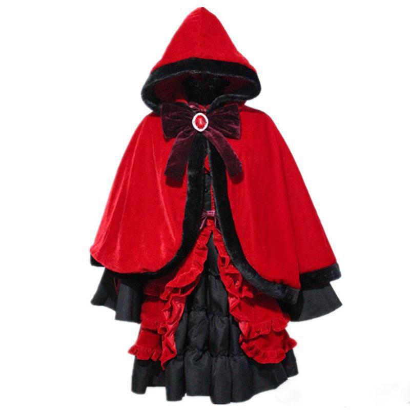 K Return Of Kings Kushina Anna Cos Red Fluffy Gothic Lolita Cosplay Dress