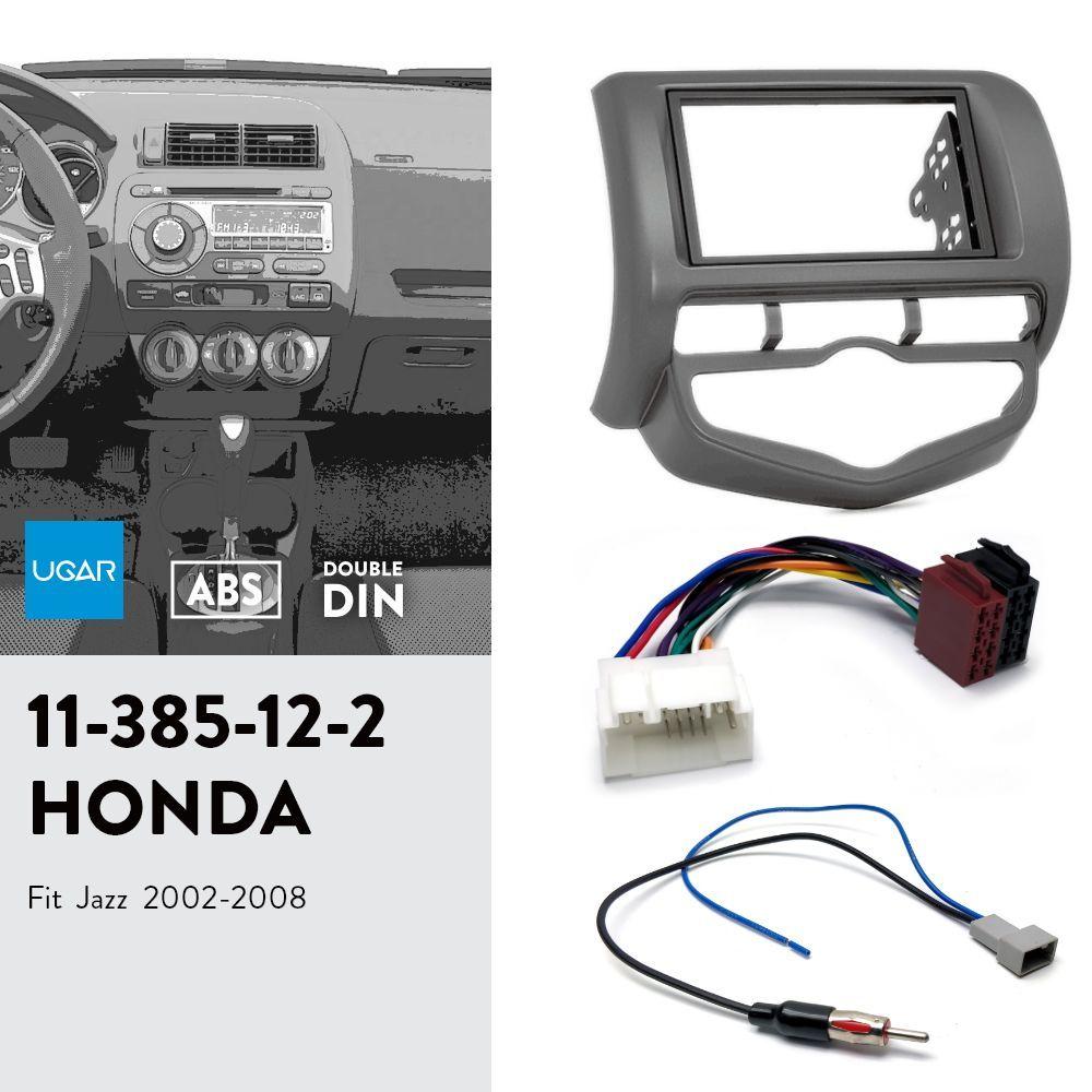 UGAR 11-385 Комплект лицевой панели / рамка лицевой панели + жгут ISO + антенный адаптер для Honda Fit, Jazz 2002-2008