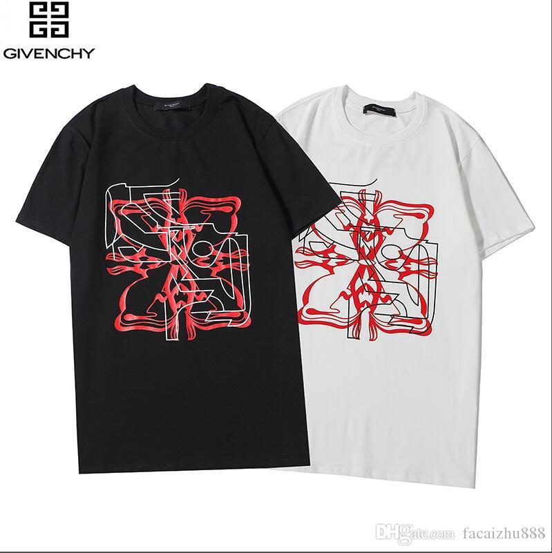 design di lusso lettera semplice T-shirt da uomo Paris Stampa street style moda casual top uomini e le donne della maglietta per