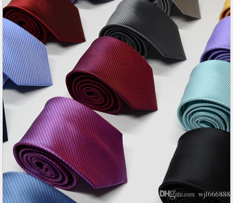 Tie Men's Business Suit Professional Tie Polyester Silk 1200 Needles Jacquard Stripe Tie