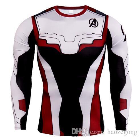 New Designer Avengers Compression Long Sleeve Men Running Shirt Summer Males Gym T Shirt Marvel Super Heroes Rashguard Male Crossfit