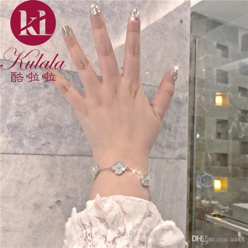Clover Armband weiblichen versilbert ins Koreanische Version einfache Persönlichkeit Super Fee Weihnachten Geburtstagsgeschenk für Freundin Freundinnen