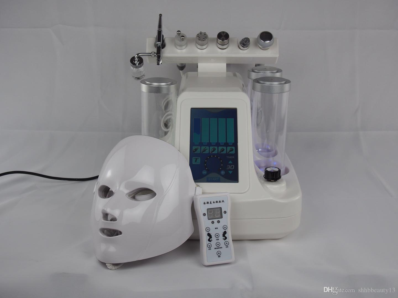 8 en 1 salón de uso Facial Hidro Dermabrasión Profesional Portátil Aqua Peel Spa Hydra Peladora de diamantes