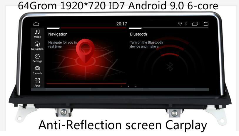 "1920*720 4G 64Grom 10.25 "" Android 9.0 автомобильный монитор для X5 E70 X6 E71 стерео Радио Vedio Audio GPSNavi Media Headunit стерео автомобильный dvd"
