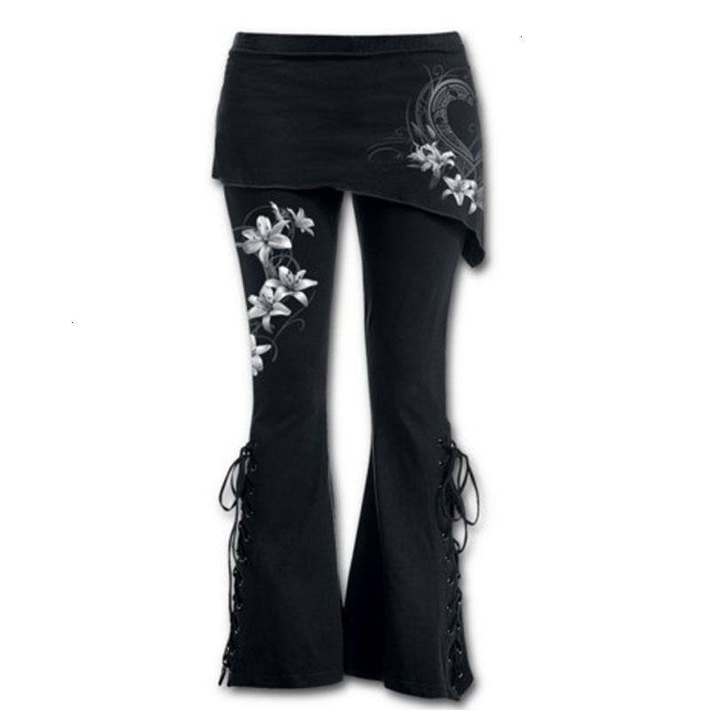 여성 바지 여성 바지 여성 스키니 브랜드 5XL 바지 패션 인쇄 섹시한 붕대 스트레치 대형 4 5 바지 혼합 바지 블랙