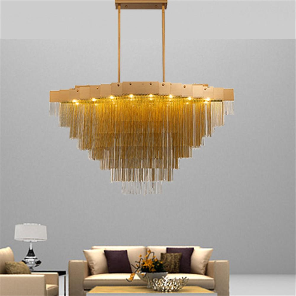 Catena in alluminio moderna lampada a sospensione Goccia Illuminazione del salone della casa plafoniera della luce Shop Bar PA0027
