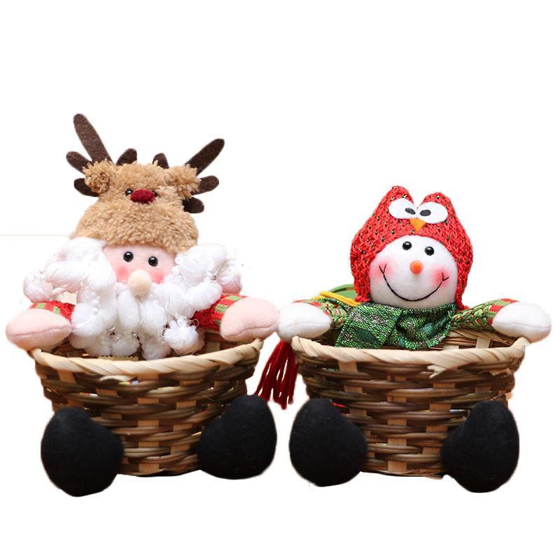 Navidad 2020 Nova Cesta De Doces de Natal de Natal Decoração de Mesa de Doces Frutas Doces Decorações Quadro 15x13 Cm