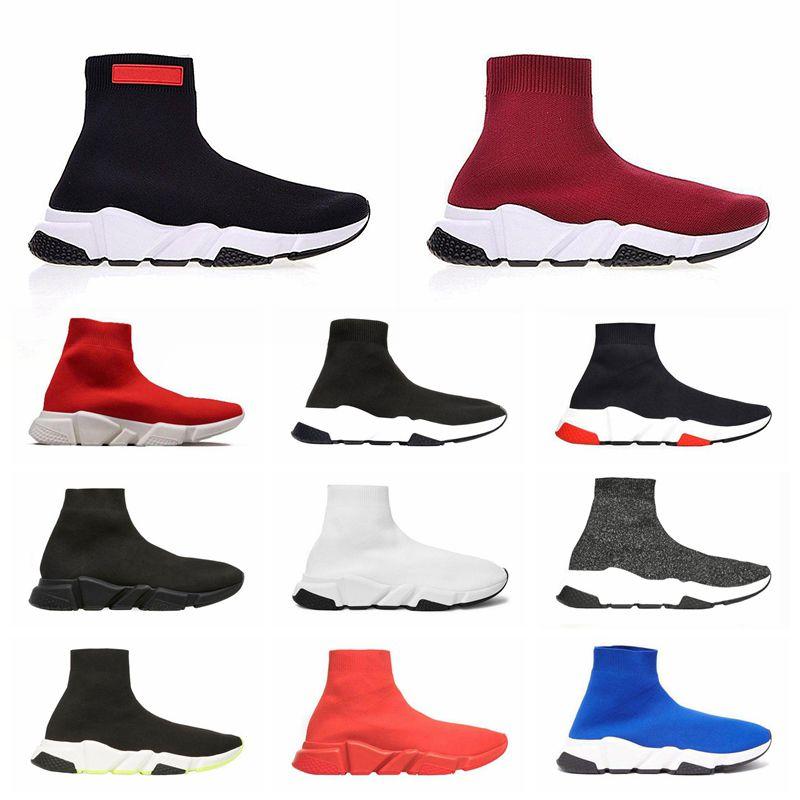 2019 meias de grife homens mulheres tênis moda sapatos preto branco vermelho glitter verde rosa plana mens formadores runner sapato casual tamanho 36-45