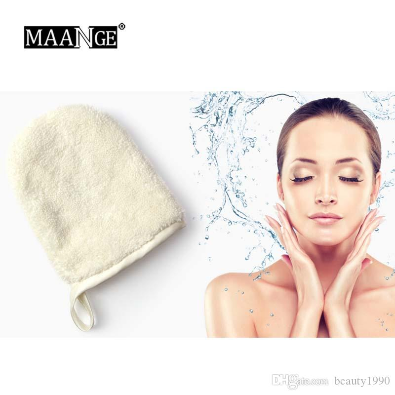 1 قطع ماكياج مزيل لينة ستوكات الوجه غسل منشفة قابلة لإعادة الاستخدام التطهير قفاز الجمال العناية المكياج أدوات
