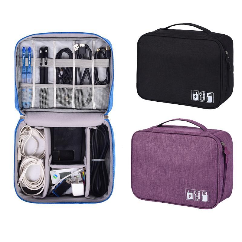Acessórios Eletrônicos portáteis Saco de Viagem U disco U escudo fone de ouvido carregador cabo de alimentação saco de armazenamento Das Mulheres Dos Homens de Viagem cubos de embalagem
