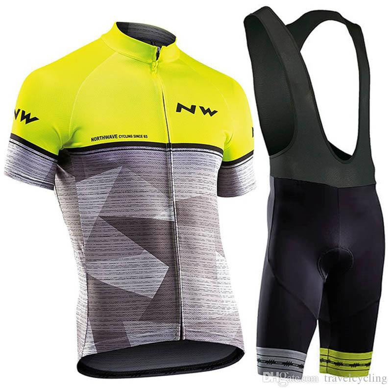2020 New NW Pro Cycling Jersey Set Mens Northwave Summer Breathable Team Racing Bike Clothing Sports Uniform Bicycle Jersey Y20302702