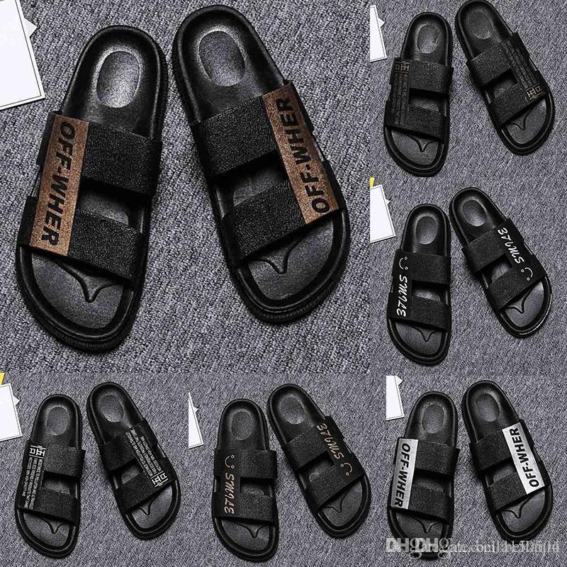 neueste Designer Sandalen Herren Schuhe Luxus Slide Summer Fashion Weit Flache Sandalen Slipper Leder Flip Flops Sommer im Freien Strand Slippers