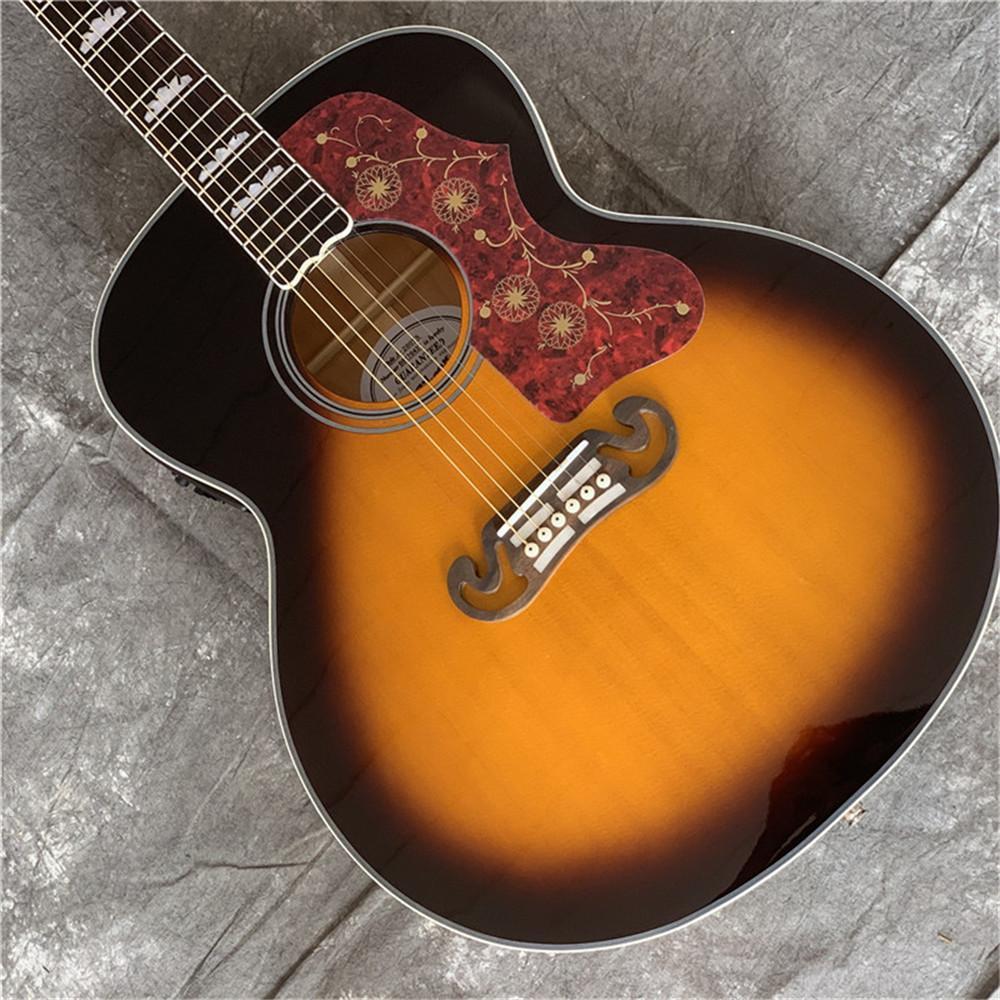 Neue Best Musical Instruments Benutzerdefinierte J200 vs Akustikgitarre Auf Lager Kostenfreie Verschiffen