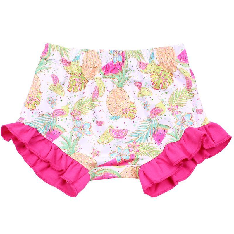 Estate neonate Anguria Ananas frutta stampano i pantaloni Boutique Bambini principessa Bloomers dell'increspatura del bambino Bloomer Milksilk