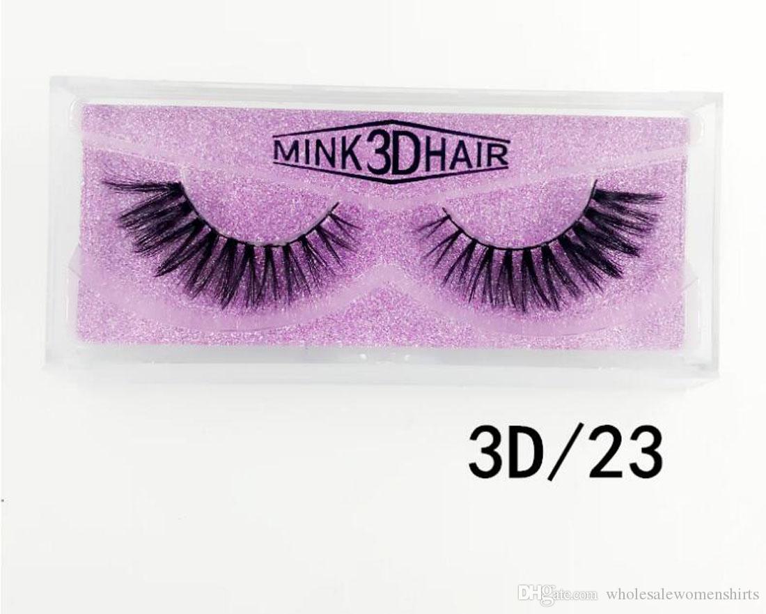 60 Pcs 3D Mink Eyelashes Eye makeup Mink False lashes Soft Natural Thick Fake Eyelashes maquillaje Beauty 16 styles 3D23