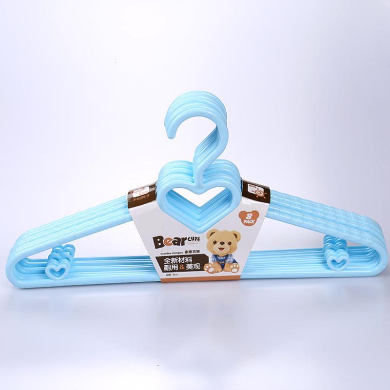 39cm New Design Heart PP Hangers for Coat Tops Suit Clothes Skirts Storage Hanger Clothing Shop Racks