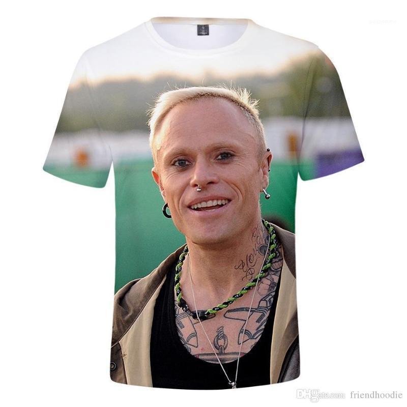 Abbigliamento Keith Flint Mens magliette 3D Stampato camicie a maniche corte Fashion Designer Tops Mens Prodigy casuale