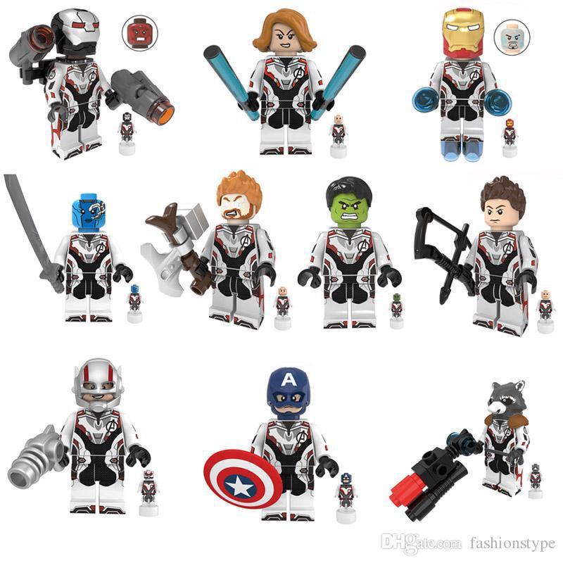 10 pcs vingadores mini brinquedo figura super hero super-herói hulk thor tony stark figura building block toy compatível com a maioria das principais marcas