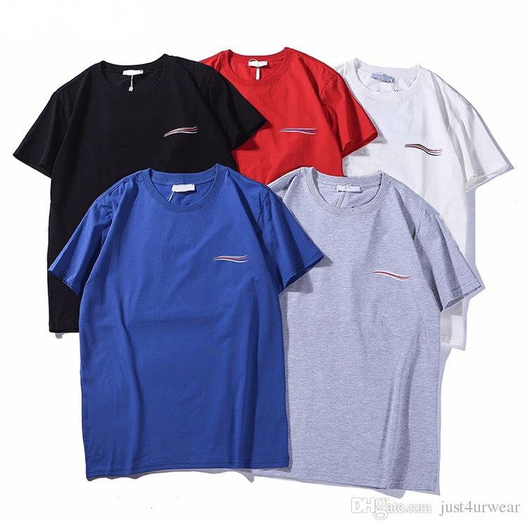 Mens Casual Print Wave Creative T-Shirt Solid Breathable T-Shirt Loose Crew Neck Short Sleeve Male Tee