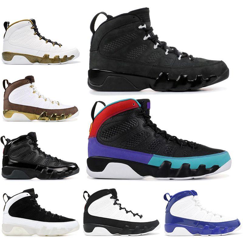 Nike AIR Jordan 9  con calzini 2019 9 9s Scarpe da pallacanestro da uomo MOP MELO OREGON ANATRE blu SOGNO LO FACCIAMO STATUA Atletica Sneakers sportive 40-47