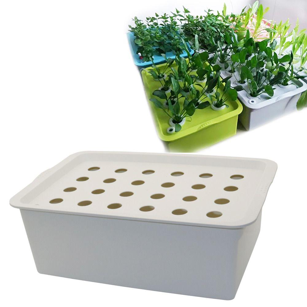 24 trous usine du site hydroponique Kit de jardin Pots Planters Pots d'intérieur Culture Seedling Box Kit Bubble Nursery Cultiver Pots