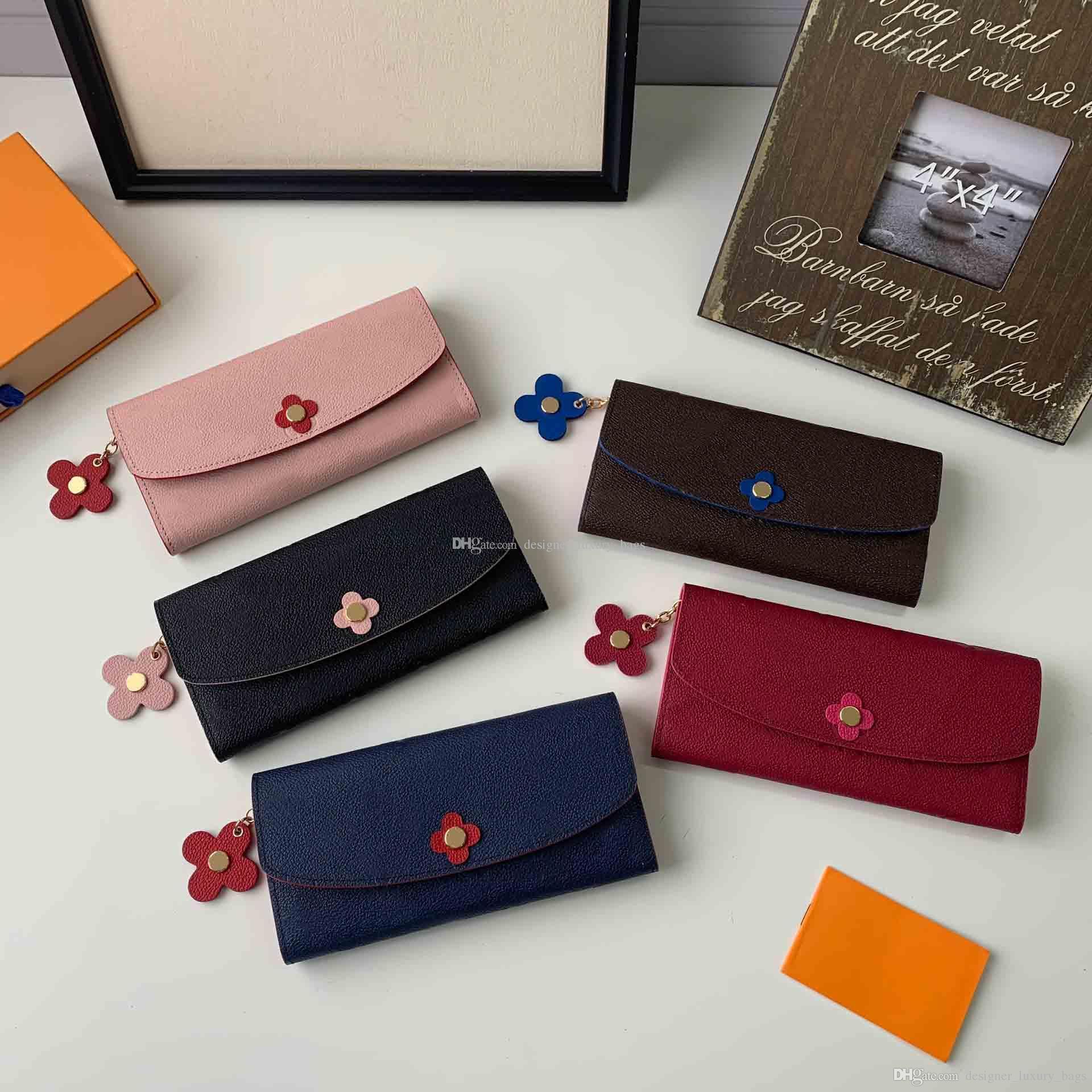 Fashion Luxury designer wallet coin purse 2019 new fashion flower print women wallet pochette luxury wallet