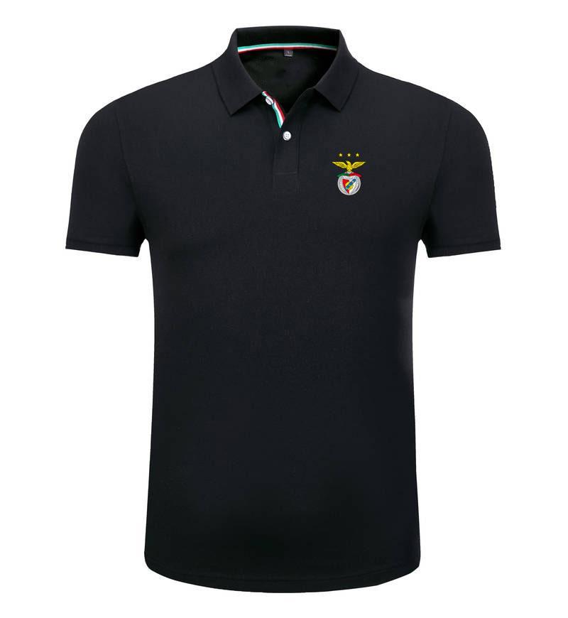 Бенфика 2020 весна и лето новый хлопок футбол поло рубашка мужская с короткими рукавами лацкан унисекс поло может DIY пользовательские мужские рубашки поло
