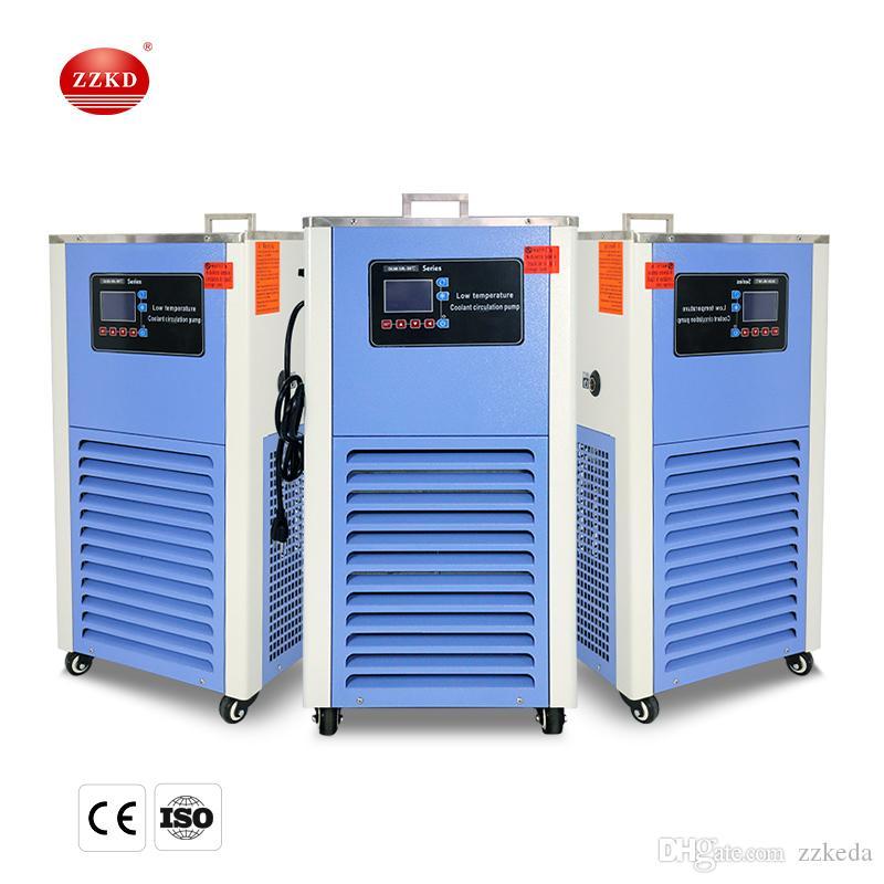ZZKD Laboratorio de enfriamiento de laboratorio 10L bomba de circulación de líquido de enfriamiento de temperatura baja, enfriador de recirculación -10 a -120 110V / 220V
