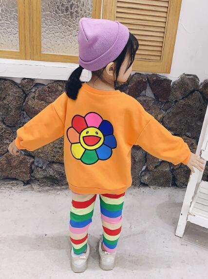 Nuovi bambini e Girls'Printed Girasole banda vestito di pantaloni a due pezzi per bambini in primavera e autunno del 2019