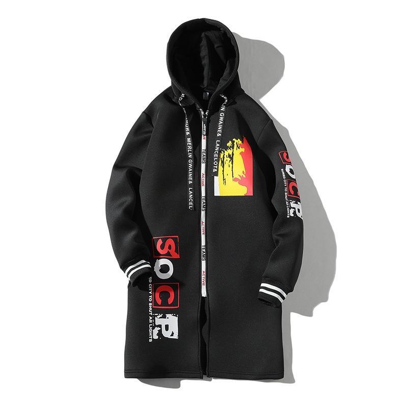 Per cappotto degli uomini di primavera e in autunno 2019 New Style Adolescente vestiti di autunno studenti delle scuole medie di lunghezza media Trench Bf33