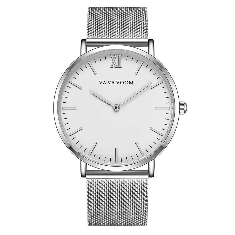 Armbanduhr Geschenke Mann-Sport-Uhr-Männer Uhren Business Neu Quarz Wasserdicht Mesh-Edelstahl-Band-reloj hombre