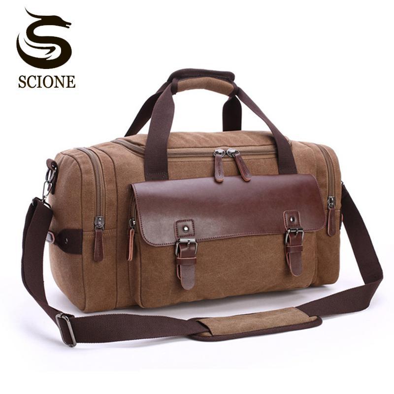 Alta Qualidade Men Canvas Viagem Bagagem Bag grande capacidade de ombro Bolsa Crossbody viagem mochilas Mulheres Duffle Handbag