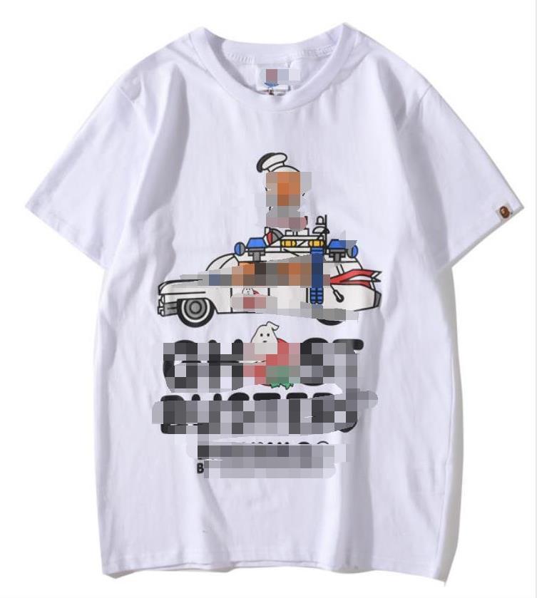 2020 Luxo Mens Shirts Verão DesignerLuxury Mens Branded T-shirt de manga curta Padrão Mulheres Top Tees Hip Hop Moda Streetwear 2021503Q