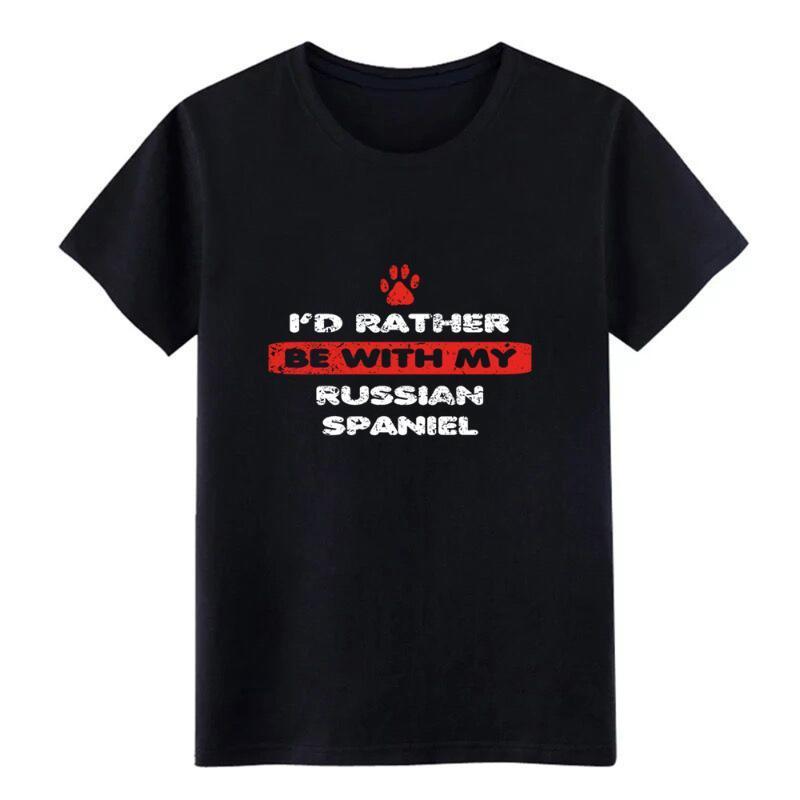 hund Hund Liebe r ather bei meinem russischen Spaniel T-Shirt Entwürfe aus 100% Baumwolle plus Größe 3XL Famous Grund Sommer-Art-Shirt kühlt