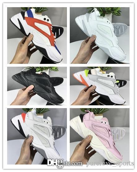 Nike Air Monarch the M2K Tekno 2019 NUEVO Aire Monarch m2K Tekno deportivo para hombre de calidad superior de las mujeres blancas Zapatillas deportivas casuales Formadores Tamaño