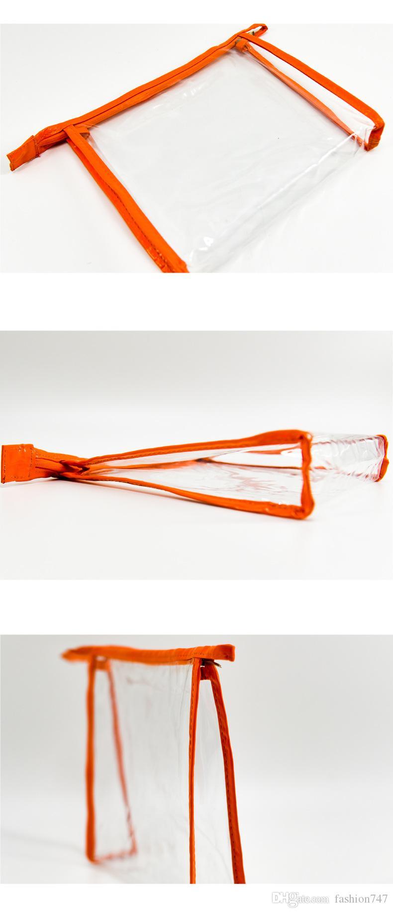 Waterproof cosmetic bag lady net red large capacity travel cosmetics pocket portable PVC transparent wash bag