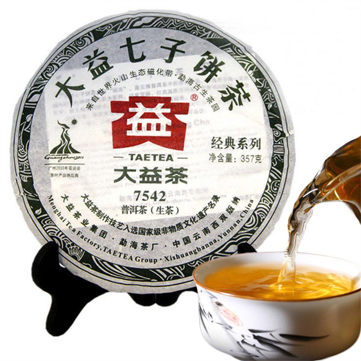 357g del tè di Puerh Cakes Yunnan Dayi 7542 Raw Puerh tè verde cinese Pu erh Healthy Green Food Preferenze