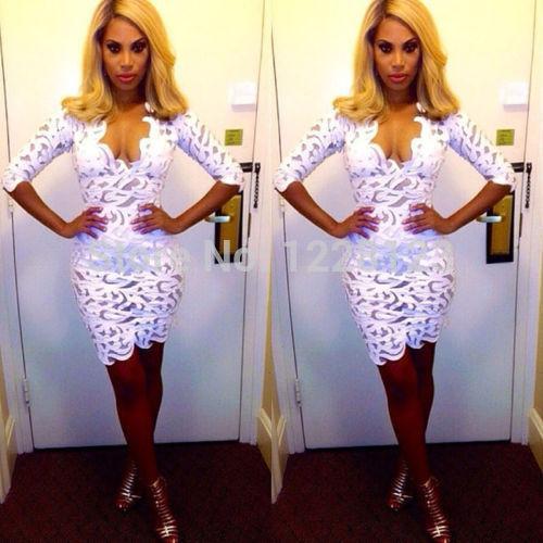 2015 новый FAHSION горячие продажи сексуальные женщины с длинным рукавом партии коктейль коктейль короткое мини платье бесплатная доставка
